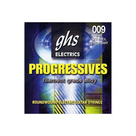 GHS ELECTRIC GUITAR STRINGS PROGRESSIVES CL 009-046 1