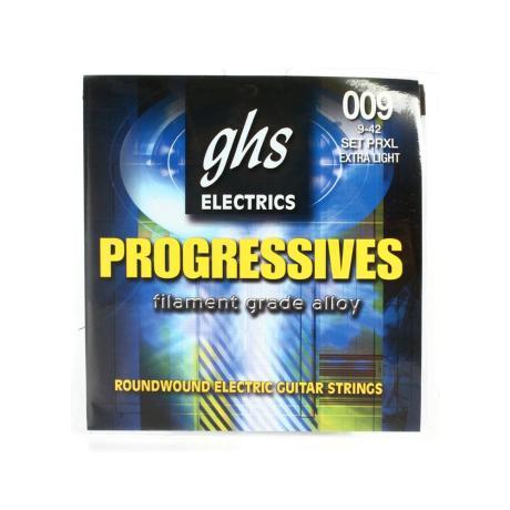GHS ELECTRIC GUITAR STRINGS PROGRESSIVES XL 009-042 1