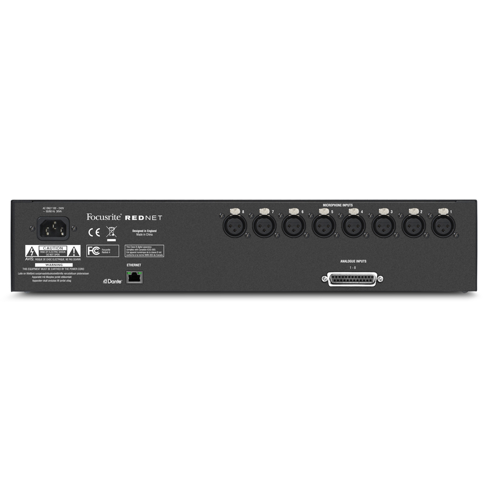 FOCUSRITE INTERFACE WITH 8 MICROPHONE PREAMS/LINE INPUTS