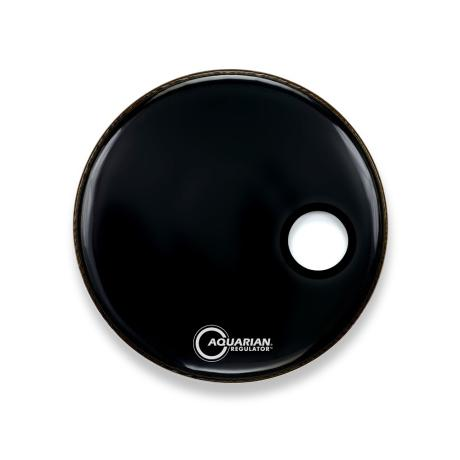 AQUARIAN 18'' FRONT SM HOLE W/RING BLK 1