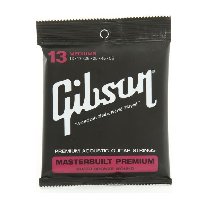 GIBSON ACOUSTIC GUITAR STRINGS MASTERBUILT PREMIUM 80/20.013.056 1