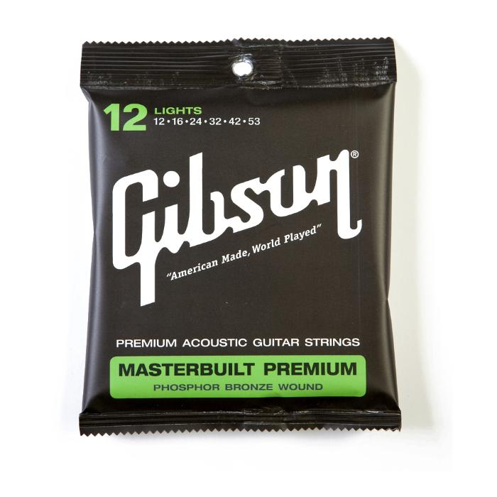 GIBSON ACOUSTIC GUITAR STRINGS MASTERBUILD .012-.052 1