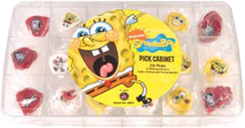 SPONGEBOB PICK CABINET 216PCS