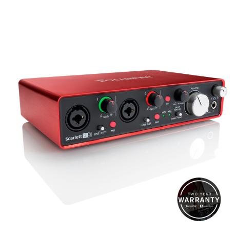 FOCUSRITE USB AUDIO INTERFACE 2 INPUTS/4 OUTPUTS 1