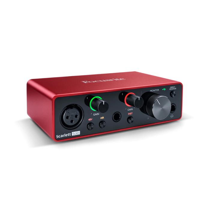 FOCUSRITE INTEGRATED RECORDING PACKAGE SOLO 3ND GEN+ MIC+HEADPHONES