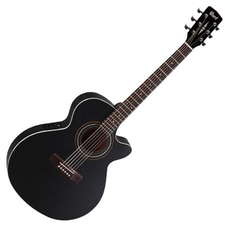 CORT ELECTROACOUSTIC GUITAR SFX-ME SLIM BODY BLACK SATIN 1
