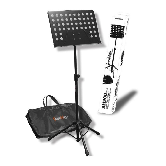 BESPECO MUSIC STAND BLACK WITH CASE 2