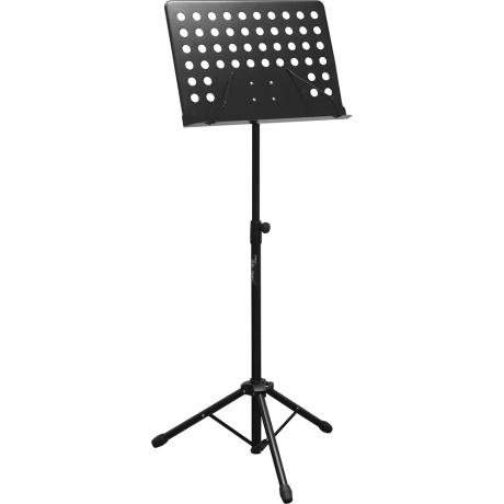 BESPECO MUSIC STAND BLACK WITH CASE 1