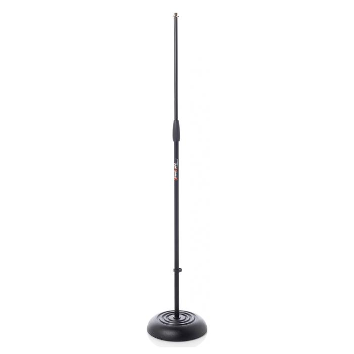 BESPECO STRAIGHT MIC STAND WITH ROUND BASE 1