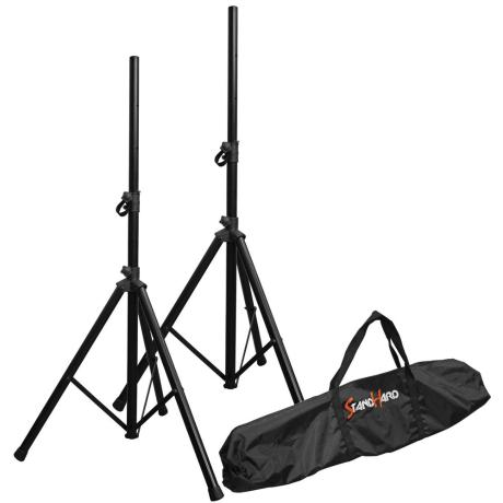 BESPECO PAIR OF SPEAKER STANDS WITH  35mm POLE