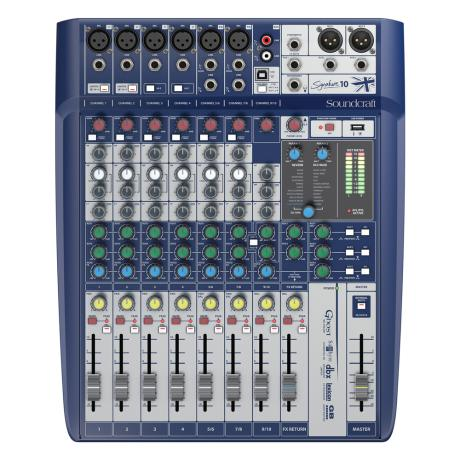 SOUNDCRAFT COMPACT ANALOG MIXING 6 MONO/2 ST.-LEXICON EFFECTS 1