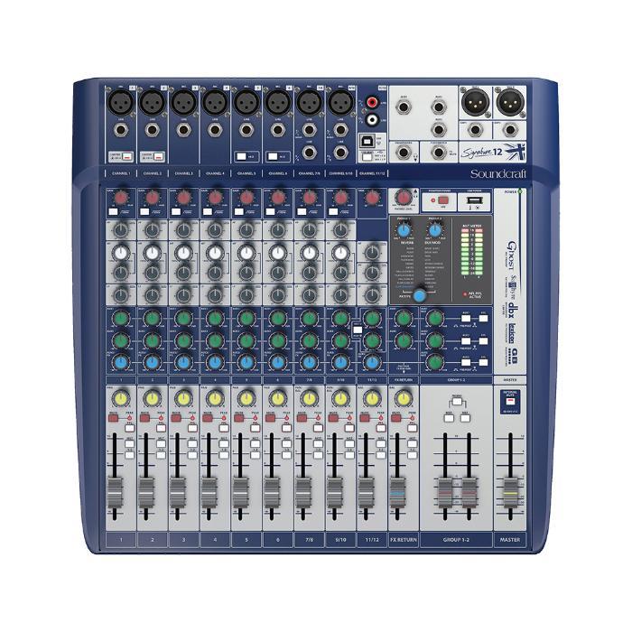 SOUNDCRAFT COMPACT ANALOG MIXING 8 MONO/2 ST.-LEXICON EFFECTS 1