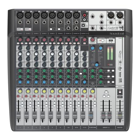 SOUNDCRAFT COMPACT ANALOG MIXING 8 MONO/2 ST.-LEXICON EFFECTS