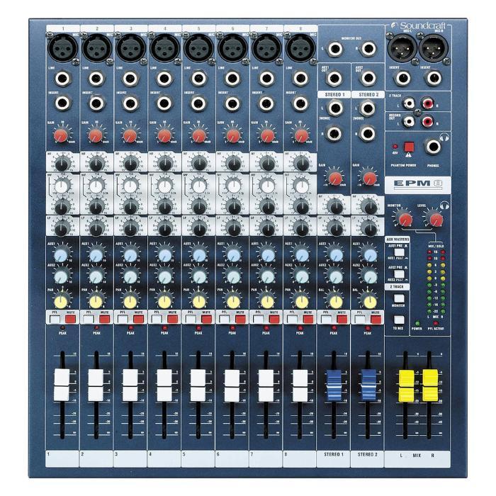 SOUNDCRAFT MIXING CONSOLE 8MONO/2STEREO 1