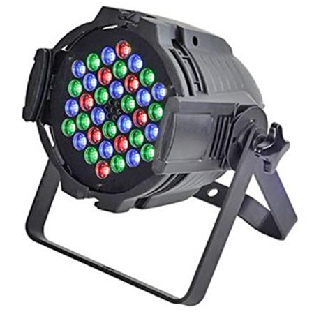 STARAY LED ΠΡΟΒΟΛΕΑΣ RGB 36X3W BLACK IP 20 1
