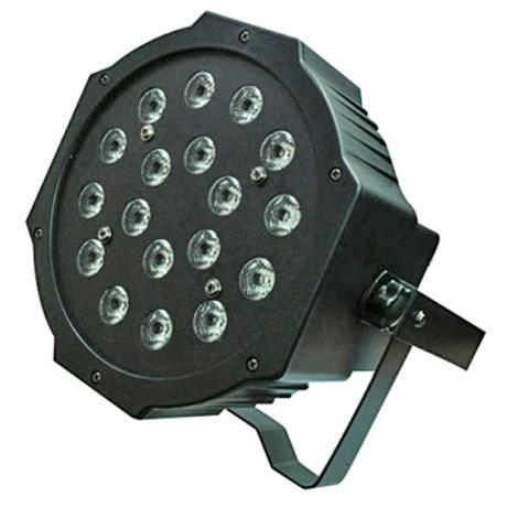 STARAY LED ΠΡΟΒΟΛΕΑΣ RGB 18X1W BLACK IP 20 1