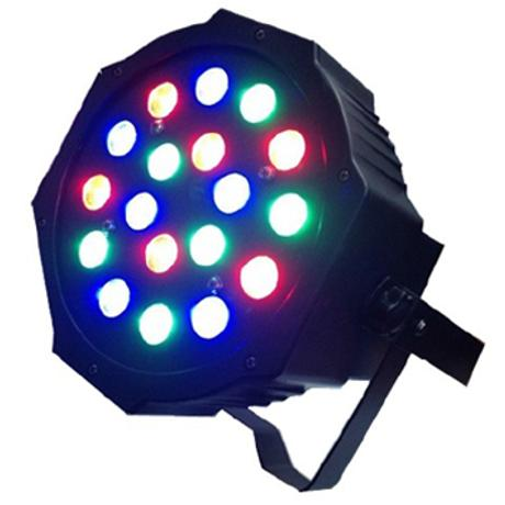 STARAY LED ΠΡΟΒΟΛΕΑΣ RGB 18X3W 25DEG BLACK IP20 1