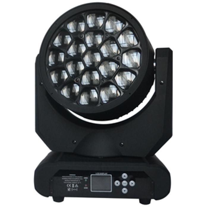 STARAY WASH LED MOVING HEAD WITH ZOOM RGBW 19X15W+KALEIDOSCO 1
