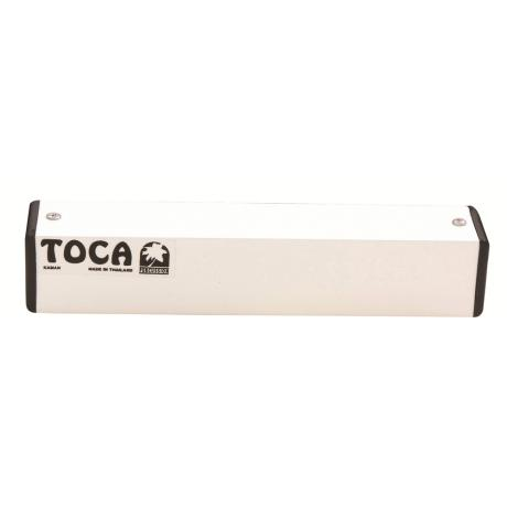 TOCA PERCUSSION SHAKER 8'' ALUMINIUM SQUARE WHITE