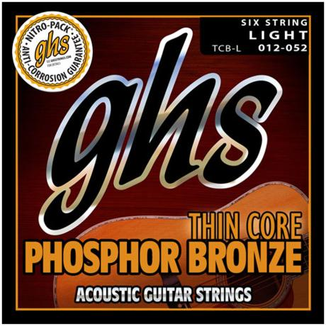 GHS ACCOUSTIC GUITAR STRINGS SET THIN CORE PH. BRONZE LIGHT 012-052