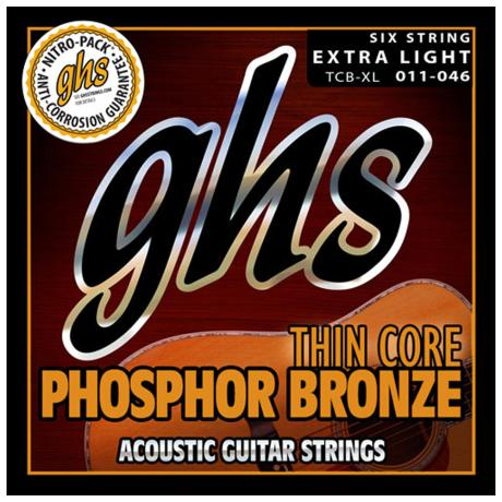 GHS ACCOUSTIC GUITAR STRINGS SET THIN CORE PH. BRONZE EX. LIGHT 011-046