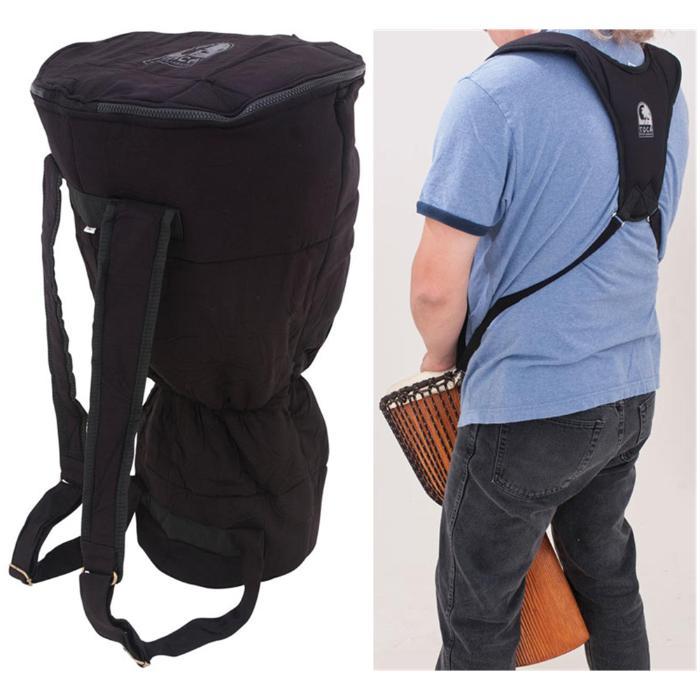 TOCA PERCUSSION 14'' DJEMBE BAG & SHOULDER HARNESS PACK BLACK 1