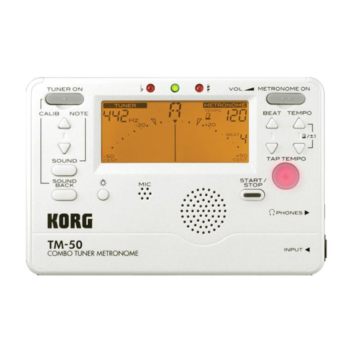 KORG DIGITAL TUNER/METRONOME WHITE-0