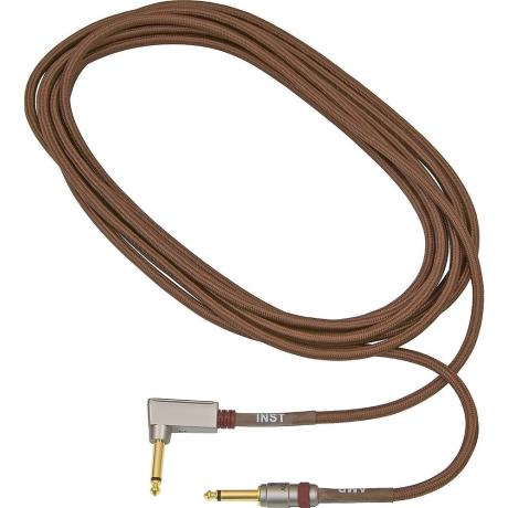 VOX INSTRUMENT CABLE 4m ANGLE BROWN