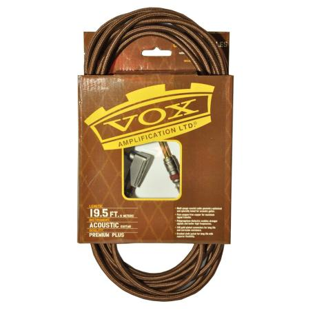 VOX INSTRUMENT CABLE 6m ANGLE BROWN