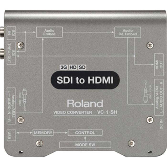 ROLAND SDI TO HDMI SD/HD/3G CONVERTER WITH EMB. AUDIO 1