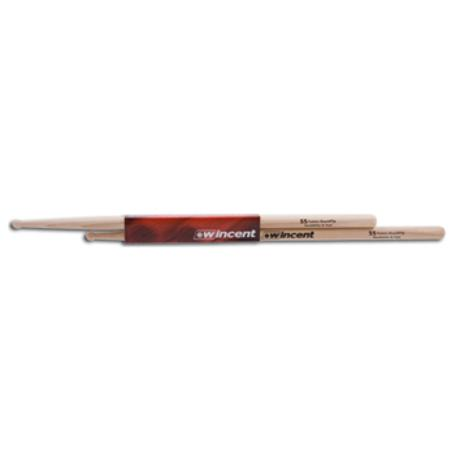 WINCENT HICKORY DRUMSTICKS ROUND TIP FUSION 1
