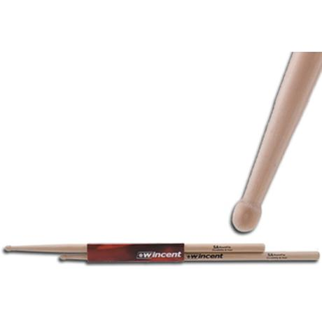 WINCENT HICKORY DRUMSTICKS ROUND TIP