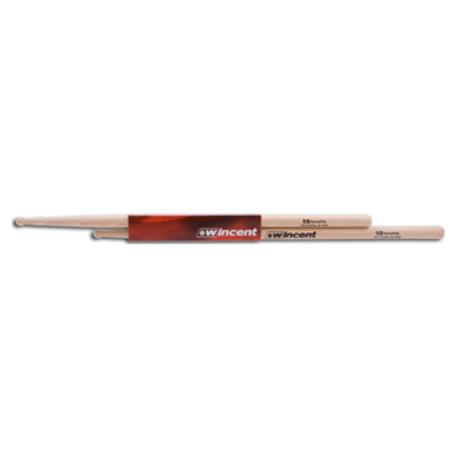WINCENT HICKORY DRUMSTICKS ROUND TIP 1