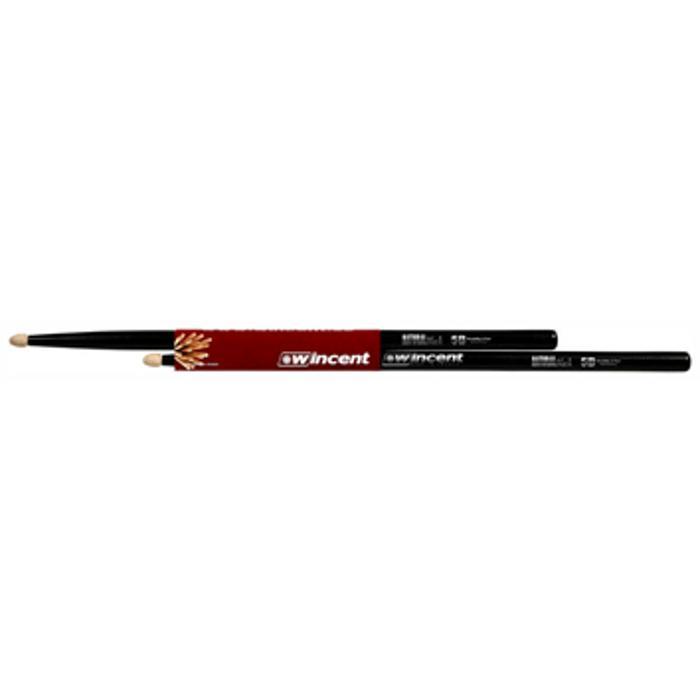 WINCENT HICKORY DRUMSTICKS 5B XL NATURAL BLACK 1