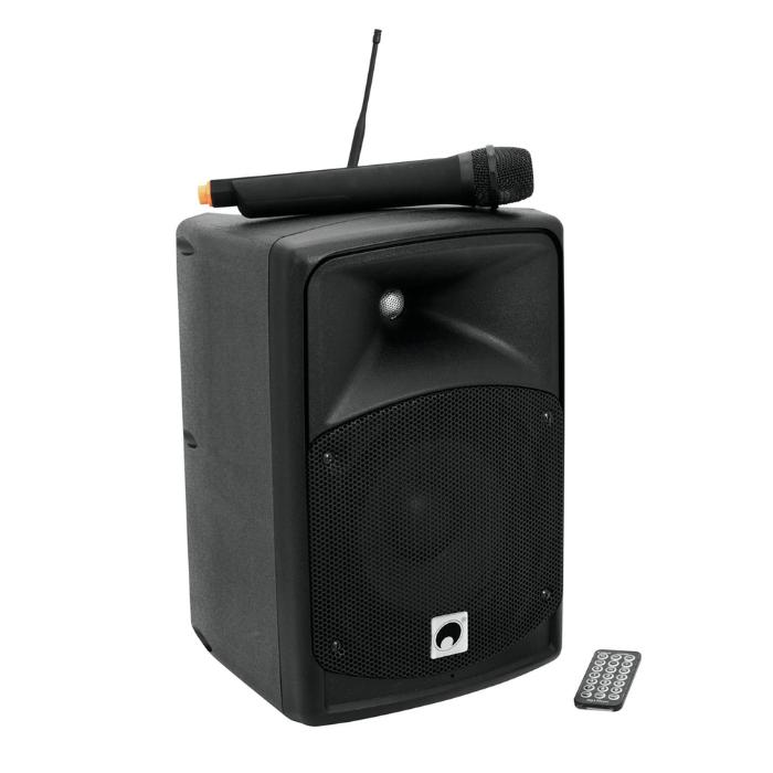 OMNITRONIC PORTABLE WIRELESS ACTIVE SPEAKER PA SYSTEM 8'' 1