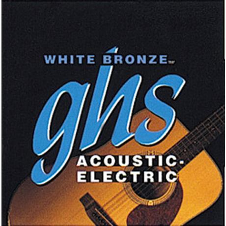 GHS ACOUSTIC GUITAR STRINGS WHITE BRONZE 1