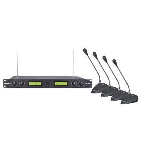 WORK WIRELESS CONFERENCE SYSTEM WITH 4 DESKTOP MICS 1