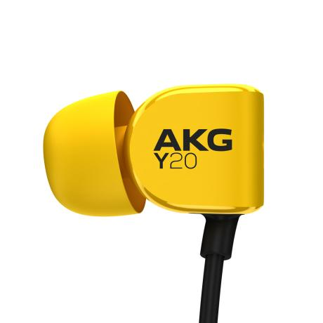 AKG IN-EAR HEADPHONES + MIC YELLOW